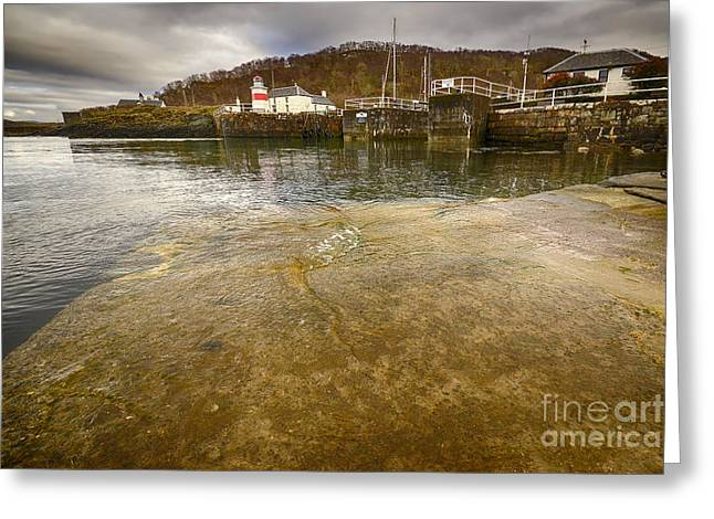 Crinan Greeting Card by Stephen Smith