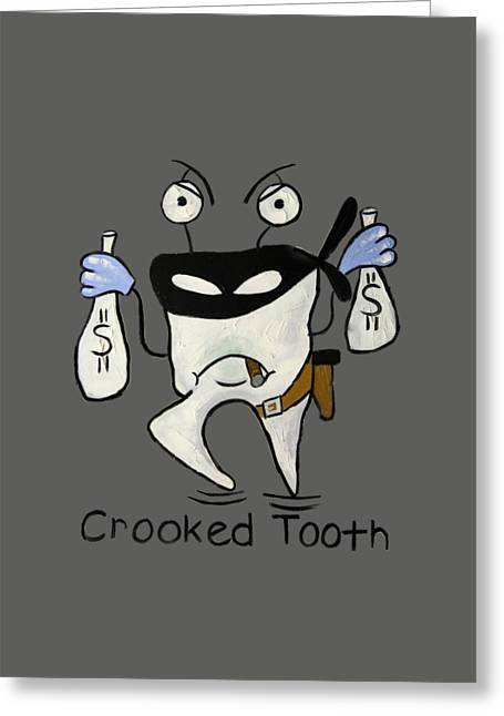 Shirt Digital Greeting Cards - Crooked Tooth Greeting Card by Anthony Falbo