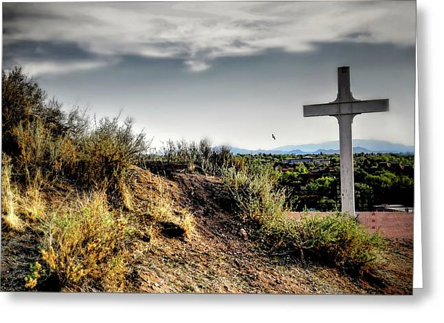 Cross Of The Martyrs Greeting Card by Diana Angstadt