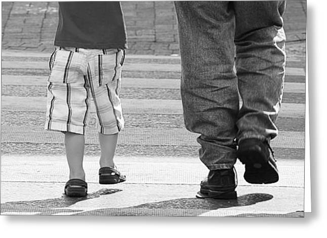 Crosswalk Greeting Cards - Crossing Greeting Card by Sandra McClain