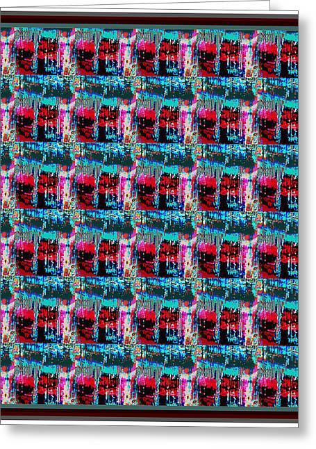 Sienna Greeting Cards - Crystal Energy Crystal Stone Micro photography Pattern Graphic art   Greeting Card by Navin Joshi
