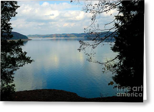 Wolf Creek Greeting Cards - Cumberland Lake Greeting Card by Anne Kitzman