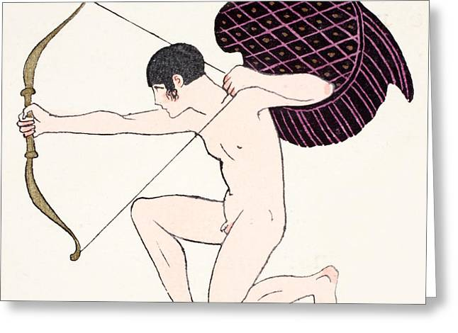 Beaux-arts Greeting Cards - Cupid Greeting Card by Georges Barbier