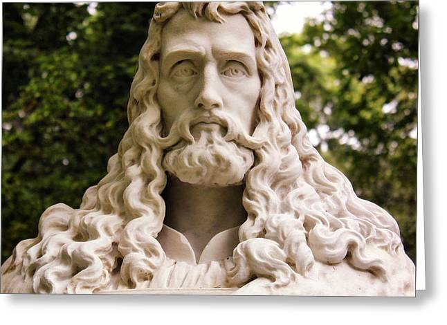 Statue Portrait Greeting Cards - Curly Greeting Card by Michael August