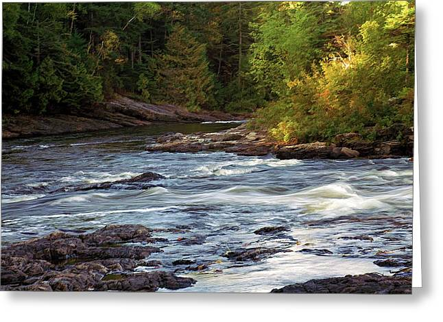 Current River Rapids Greeting Card by Bill Morgenstern