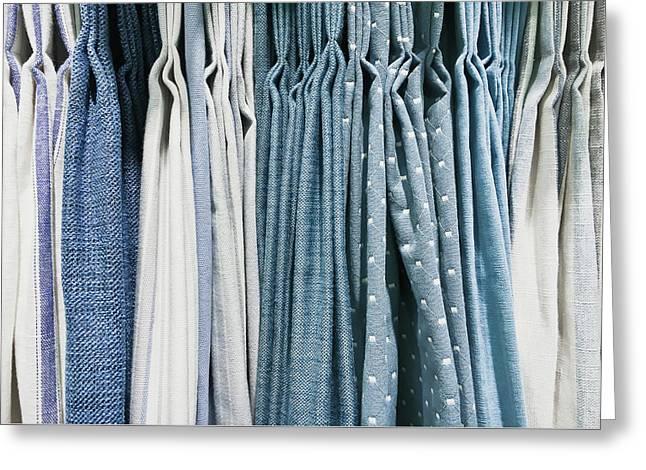 Curtain Fabrics Greeting Card by Tom Gowanlock