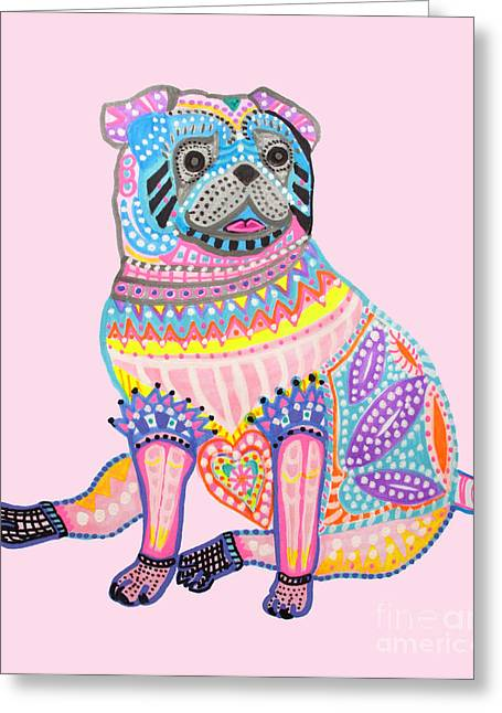 Puppy Digital Art Greeting Cards - Cute Little Pug Greeting Card by Keira  Lagunas