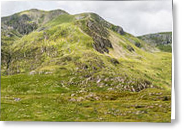 National Digital Greeting Cards - Cwm Idwal Panorama Greeting Card by Adrian Evans