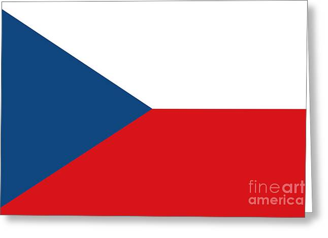 Czech Republic Flag Greeting Card by Frederick Holiday