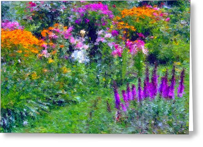 Moist Digital Art Greeting Cards - Dads Flowers Greeting Card by Maxwell Kerr