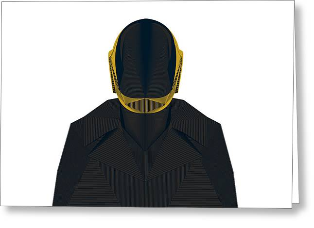 Daft Punk Greeting Card by Tharanas Chuaychoo