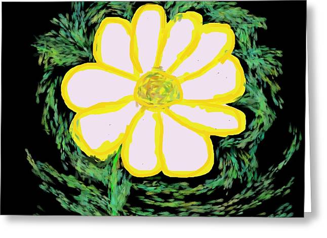Abstract Expression Greeting Cards - Daisy Greeting Card by Dotti Hannum