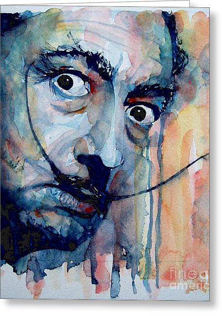 Icon Paintings Greeting Cards - Dali Greeting Card by Paul Lovering