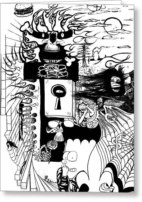 Dali Practice1 Greeting Card by Richard Cloutier