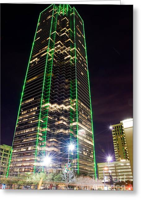 Metroplex Office Greeting Cards - Dallas Texas Night Greeting Card by Anthony Totah