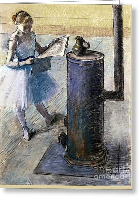 Dancer Resting Greeting Card by Edgar Degas