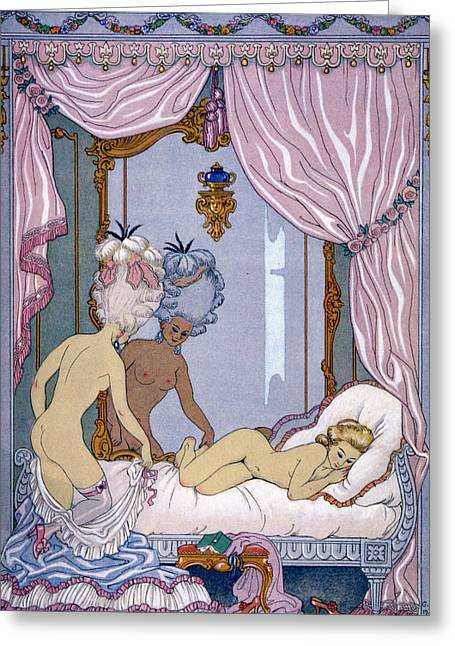 Les Greeting Cards - Dangerous Liaisons Greeting Card by Georges Barbier