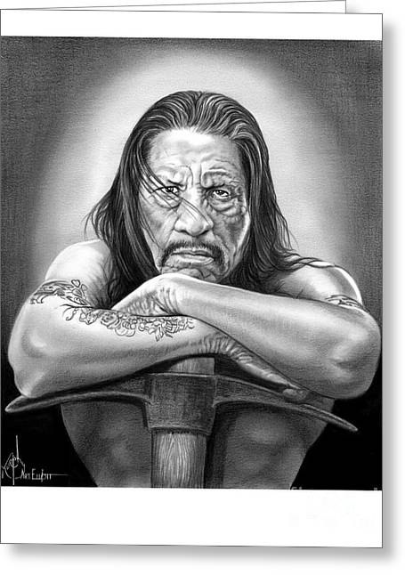 Danny Trejo Greeting Card by Murphy Elliott