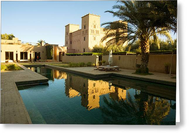Dar Ahlam Kasbah A Relais And Chateaux Greeting Card by Panoramic Images