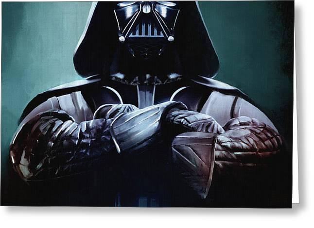 Darth Vader Star Wars  Greeting Card by Michael Greenaway
