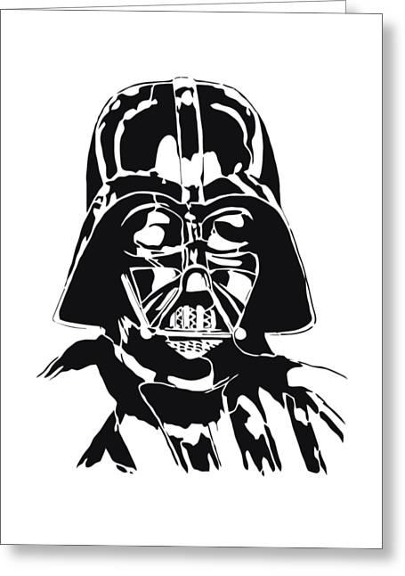 Female Body Greeting Cards - Darth Vader Greeting Card by Twentyfirst Centuryart