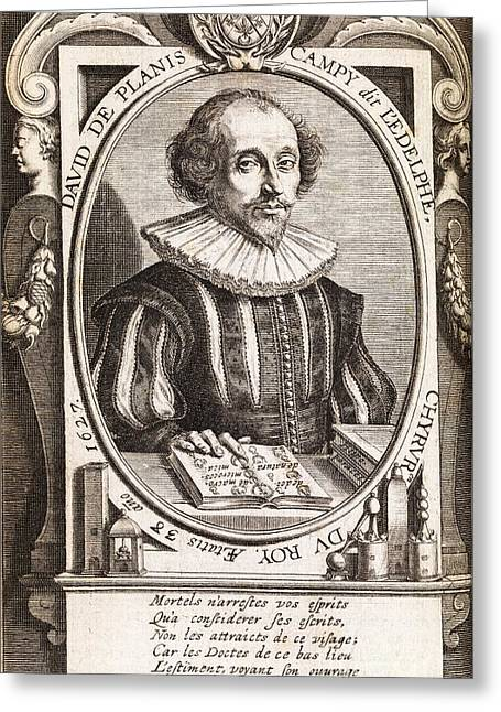 David De Planis Campy, French Alchemist Greeting Card by Middle Temple Library