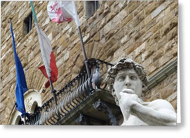 Michelangelo Greeting Cards - David Greeting Card by Giorgio Lumaconi