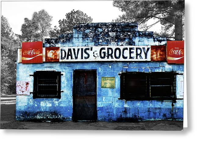Davis' Grocery Greeting Card by Steven  Michael