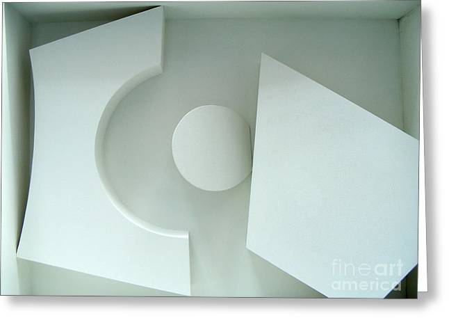 Geometric Sculptures Greeting Cards - Dawns Forest up close Greeting Card by Nancy Kane Chapman