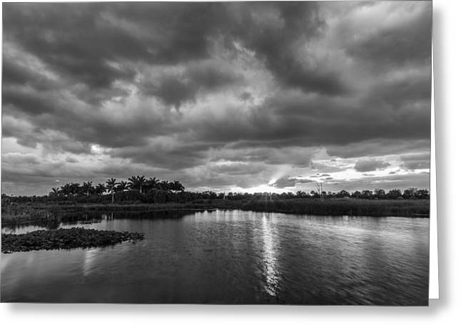 Sea And Sky Greeting Cards - Day Beginning Greeting Card by Jon Glaser