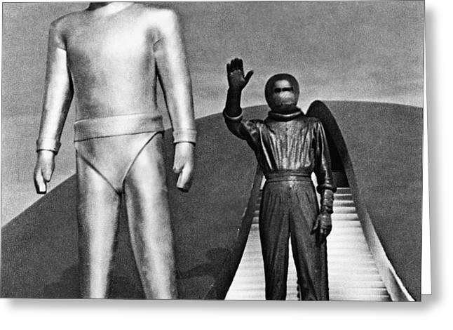 DAY THE EARTH STOOD STILL Greeting Card by Granger
