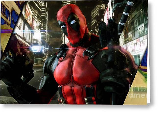 deadpool Collection Greeting Card by Marvin Blaine
