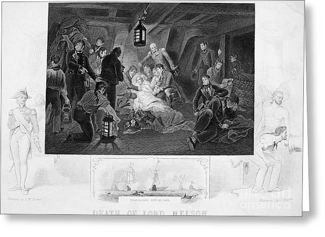 Death Of Nelson, 1805 Greeting Card by Granger