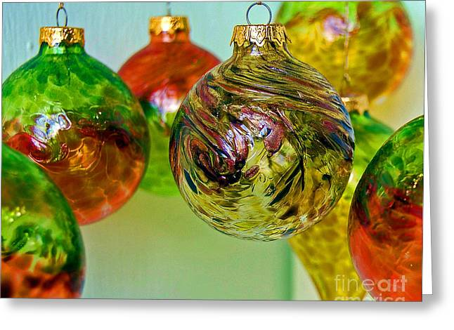 Deck The Halls Greeting Card by Debbi Granruth