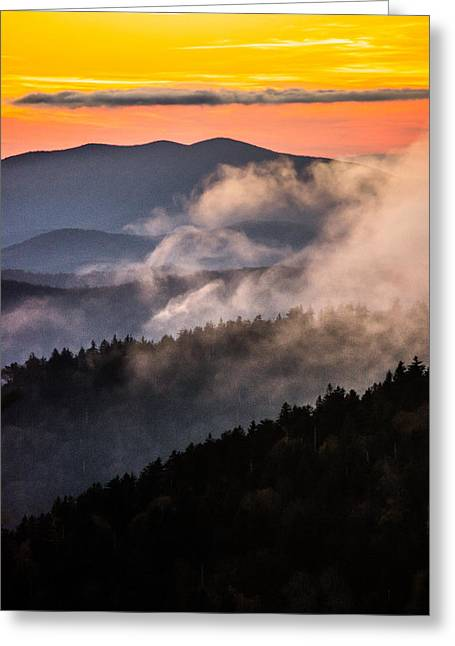 Gatlinburg Tennessee Greeting Cards - Deep Colors Greeting Card by Shelby Young