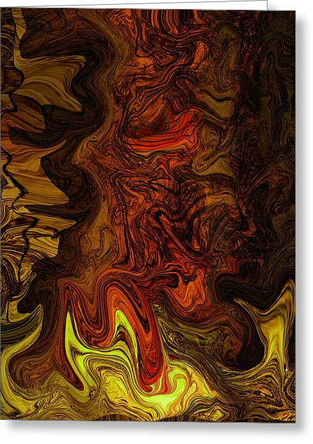 Abstract Movement Greeting Cards - DeepnDark Greeting Card by Aurora Art