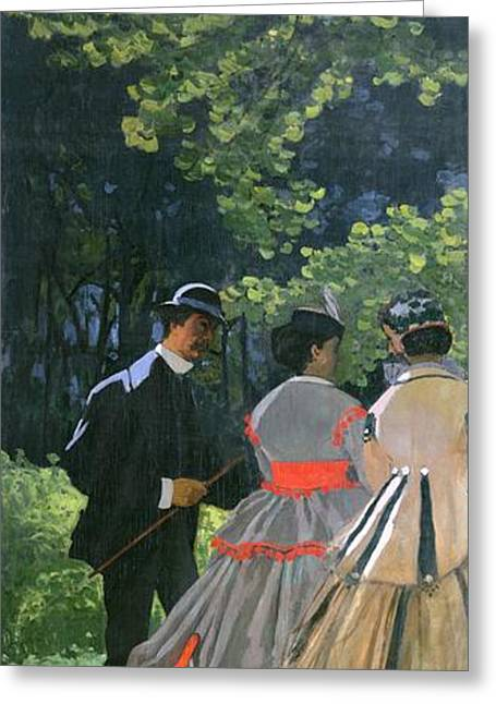 Bowler Greeting Cards - Dejeuner sur LHerbe Greeting Card by Claude Monet