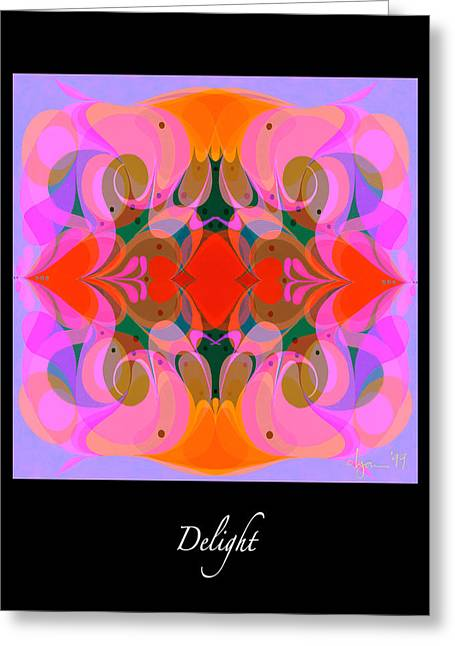 Survivor Art Greeting Cards - Delight Greeting Card by Angela Treat Lyon