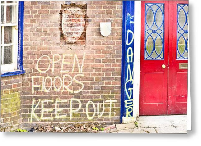 Demolition Site Greeting Card by Tom Gowanlock