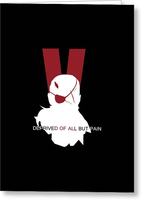 Deprived Of All But Pain Greeting Card by Billi Vhito