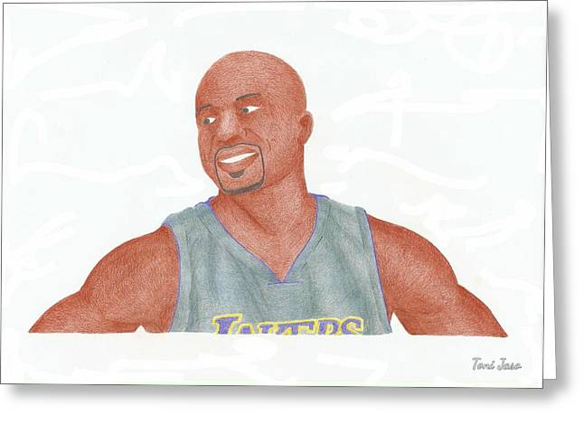 La Lakers Greeting Cards - Derek Fisher Greeting Card by Toni Jaso