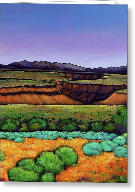 Santa Fe Desert Greeting Cards - Desert Gorge Greeting Card by Johnathan Harris