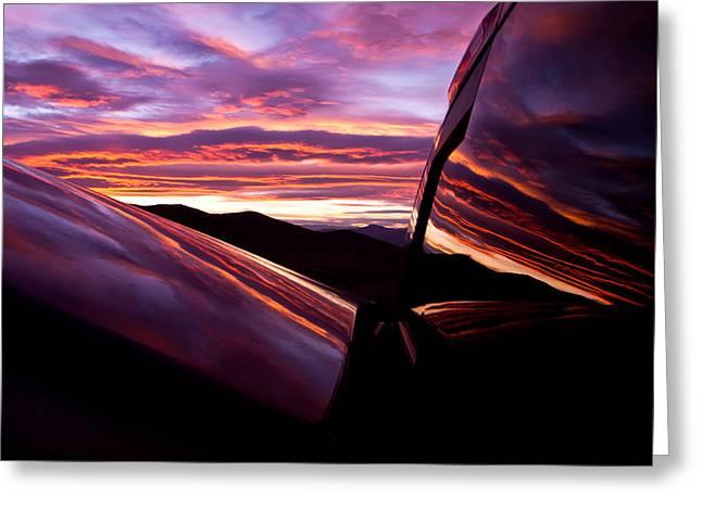 Rear Window Greeting Cards - Desert Sunset  Greeting Card by Carl Jackson