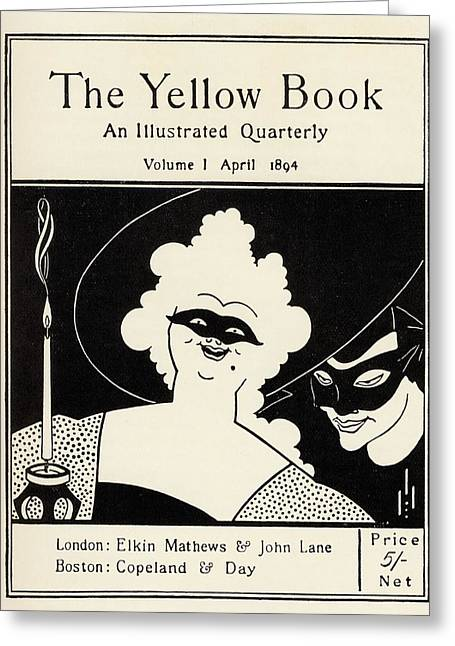 Book Cover Illustrator Greeting Cards - Design By Aubrey Vincent Beardsley 1872 Greeting Card by Vintage Design Pics