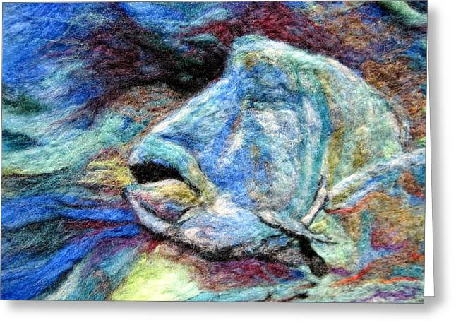 Sea Life Tapestries - Textiles Greeting Cards - Detail of Water Greeting Card by Kimberly Simon