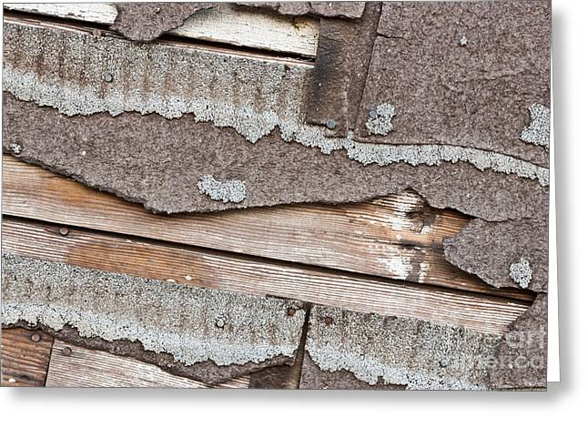 Material Composition Greeting Cards - Deteriorating Asbestos Shingles Greeting Card by Inga Spence