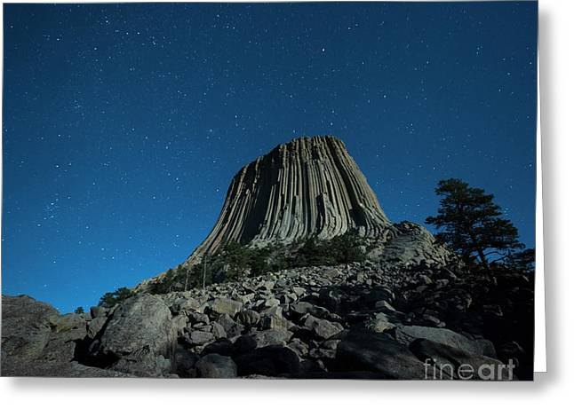 Devil's Tower Greeting Card by Juli Scalzi
