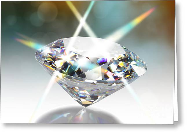 Diamond Greeting Card by ATIKETTA SANGASAENG