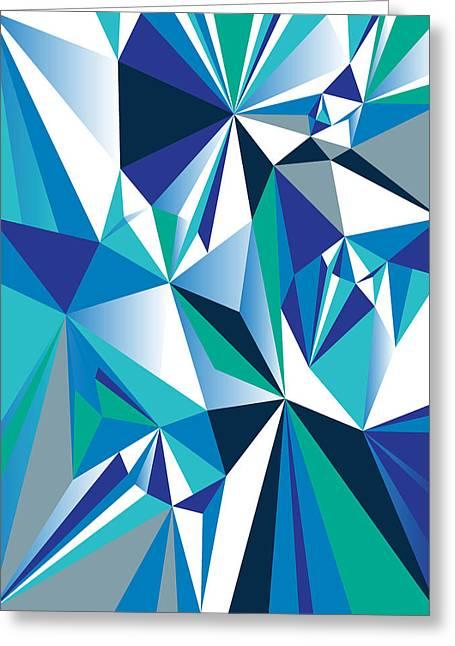Geometric Design Greeting Cards - Diamond Greeting Card by Marcio Pontes