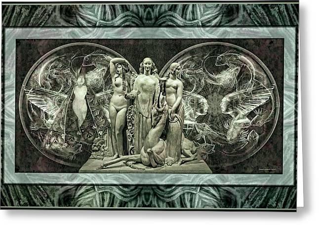 Mystic Art Greeting Cards - Diana  Greeting Card by Daniel  Arrhakis
